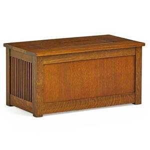 Gustav stickley spindled shirtwaist box eastwood ny ca 1908 unmarked 15 x 30 x 16