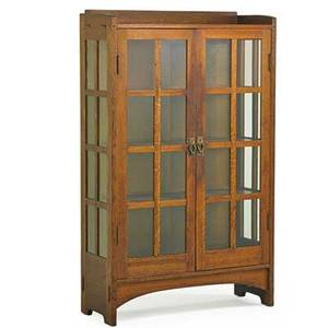 Gustav stickley doubledoor china cabinet no 815 eastwood ny ca 1906 red decal and paper label 64 12 x 39 12 x 15