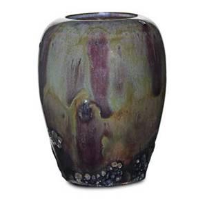 Frederick h rhead 1880  1942 rhead santa barbara cabinet vase sangdeboeuf glaze santa barbara ca 191417 stamped 3 14 x 2 12