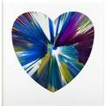 Damien hirst british b 1965 heart spin painting created at damien hirst spin workshop 2009 acrylic on paper framed bears hirst blindstamp and stamped with signature and inscription this p