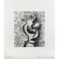 Kenny scharf american b 1958 untitled 1996 two aquatints both signed dated and numbered ap 410 9 78 x 8 12 plate each 16 18 x 14 18 sheet each provenance private collection