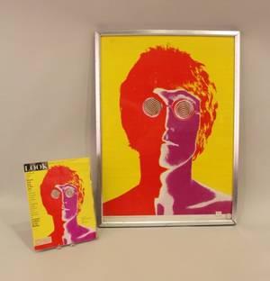 Framed Poster of John Lennon by Avedon