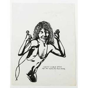 Raymond pettibon american b 1957 untitled caruso would envy me my wealth and fame 1983 ink on paper framed signed and dated 12 x 9 sheet provenance private collection