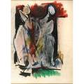 Hans burkhardt american 19041994 untitled two figures 1967 pastel on paper framed signed and dated 22 x 16 12 sight provenance private collection new york