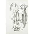 Willem de kooning dutchamerican 19041997 untitled charcoal on paper framed 13 x 8 12 sheet provenance the artist collection of dr henry vogel private collection