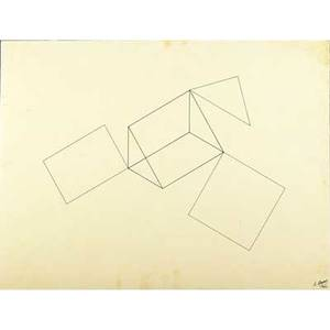 Robert morris american b 1931 untitled 1966 ink on tracing paper mounted to board signed and dated 20 34 x 27 34 sheet provenance private collection new york