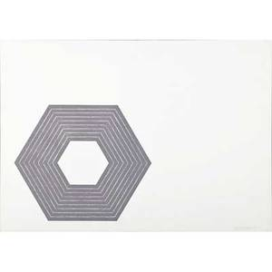 Frank stella american b 1936 sidney guberman from the purple series 1972 lithograph in colors framed signed dated and numbered 20100 16 x 22 sheet publisher gemini gel los ange