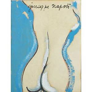 Giuseppe napoli american 19291967 two works of art untitled nude oil on paper kulicke frame signed 11 58 x 8 78 sight untitled still life 1966 oil on board framed signed and
