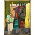 Claude howell american 19151997 the green stairway 1948 oil on canvas framed signed 24 x 18 provenance private collection vermont