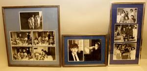 Three Black  White Photography Beatles Groupings