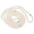 Cultured saltwater pearl  diamond rope