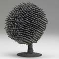Klaus ihlenfeld germanamerican 20th c sun flower phosphorous bronze 2007 provenance the artist signed 8 12 high
