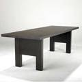 Christian liaigre  holly hunt abysse dining table in wenge with one 20 leaf christian liaigre holly hunt label closed 29 12 x 96 x 35 12