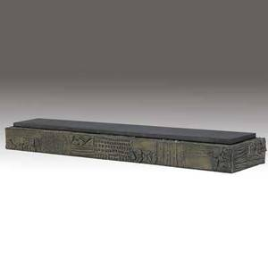 Paul evans sculpted bronze wallhung console with slate top 5 x 60 x 13
