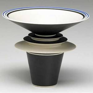 Rosalie delisle delicate porcelain sculptural footed cup glazed in black and indigo signed and marked trw 13 3 12 x 4 12