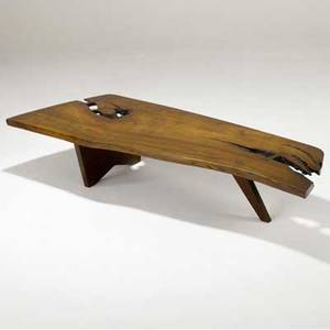 George nakashima slab coffee table the cherry top with three rosewood butterfly keys provenance available 12 x 61 x 22