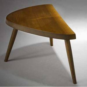 George nakashima early walnut plank stool with freeform edge 1959 accompanied by copy of original purchase order from nakashima studio provenance available 12 x 21 12 x 14