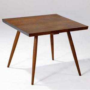 George nakashima square walnut end table with doweled legs 1957 accompanied by copy of original invoice provenance available 21 x 26 x 26