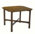 L  jg stickley breakfast table no 580 with clipcorner top and arched crossstretchers conjoined decal 29 x 36 sq