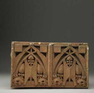 George elmslie architectural terra cotta block from the thomas a edison school of hammond indiana george elmslie joined the architectural firm of william hutton to design this and other schools i