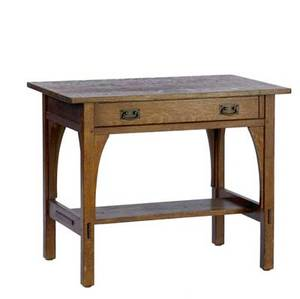 L  jg stickley single drawer library table with hammered copper pulls 29 14 x 36 x 24