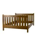 Arts  crafts full size bed with 9 slats at each end unsigned 36 x 57 12 80