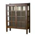 Stickley brothers twodoor china cabinet with partially mirrored back 59 12 x 46 14 x 15