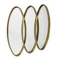 La barge wall mirror in ovalshaped gilt wood frame 49 x 47 14