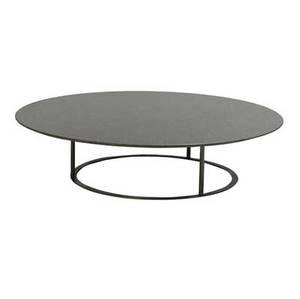 Laura griziotti  arflex uvi coffee table with circular granite top over bronze base 1981 11 34 x 49 dia