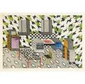 Nathalie du pasquier french b 1957 two etchings handcolored in watercolor interiors both signed dated and numbered 740 and 940 image 19 14 x 13 framed 27 12 x 20 14