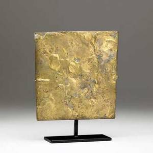 Harry bertoia american 19151978 untitled gilded bronze sculpture on stand ca 1954 provenance american primitive gallery 10 12 x 8 12 x 2 14 including base