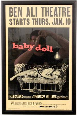 Vintage 1956 Baby Doll Film or Movie Poster