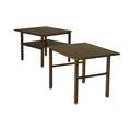 Dunbar two mahogany sofa tables with brasscapped feet brass dunbar tags 22 14 x 28 sq and 22 14 x 22 x 28