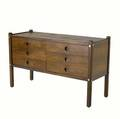 Sergio rodrigues sixdrawer dresser in jacaranda wood 34 34 x 56 x 21