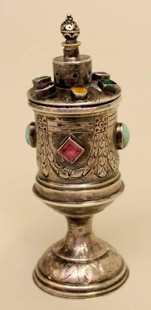 Jeweled Silver Prayer ScrollJudaica