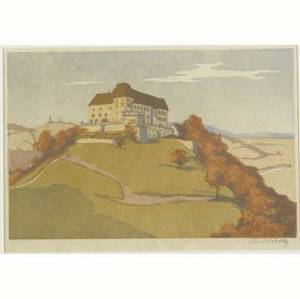 Carl rotky austrian 18911977 four color woodblock prints three by rotky one by j a spelman each matted and framed pencil signed some titled 6 14 x 9 12 6 34 x 7 34 8 12 x 7