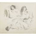 Raphael soyer american 18991987 untitled nudes lithograph framed provenance private collection new jersey signed and inscribed artist proof 22 x 25 sight