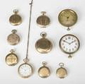 Pocketwatches automobile watches and faux montre ten pieces in gf ca 18901930