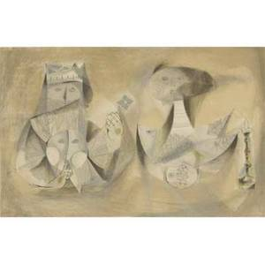 20th c mixed media five works of art two prints by chaim gross american 19041991 happy children lithograph 1968 signed dated titled and numbered 2525 23 12 x 19 sheet untitled p