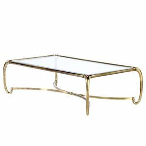 Baker brass coffee table with beveled glass top 16 x 55 x 31 12