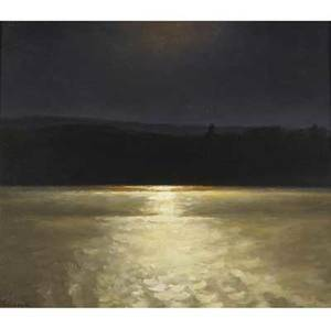 Sergei belik ukrainian b 1953 sea at night oil on canvas 2000 provenance private collection new york signed 27 x 31