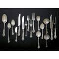 Gorham king edward silver flatware designed 1936 109 pieces 12 7 34 dinner forks 6 7 luncheon forks 8 6 14 boullion spoons 18 6 cakesalad forks 18 6 tesapoons 8 7 12 iced
