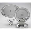 American silver trays and holloware oval tray with pierced handles 18 x 12 randahl 14 circular salver footed bonbon bowl by tuttle for grogan  co double covered vegetable bowl by gorham monog