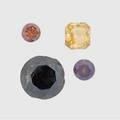 Four unmounted fancy color diamonds natural fancy deep brownish orangeyyellow 70 ct cut cornered square brilliant natural fancy dark brown 267 cts round brilliant treated fancy deep brownis