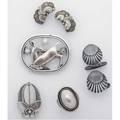 Georg jensen danish silver jewelry seven pieces postwar marks fawn brooch 256 leaf brooch 227 silver pearl ring 46a size 5 12 leaf earclips 50a shell cufflinks 66 517 gs gw