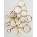 Six gold lorgnettes most 18k some 14k one 9k or gf ca 190020 all ring handled with spring deployments longest 6