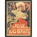 La revue des foliesbergere french art poster framed provenance private collection new jersey signed grun and dated 1905 center right 35 12 x 50