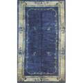Peking chinese rug blue field with design early 20th c 206 x 120