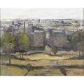 Jan kolthars dutch 19161972 untitled cityscape oil on canvas framed provenance private collection new jersey signed lower right 32 x 40