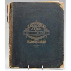 Bucks county atlas new centennial atlas of bucks county pennsylvania illustrated and dated 1876 by jd scott phila loose binding 15 x 17 12